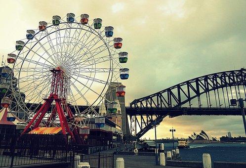 Park, Entertainment, Sydney, Retro, Carnival, Amusement