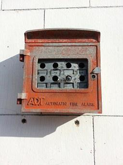 Fire Alarm, Old, Urban, Broken, Forgotten