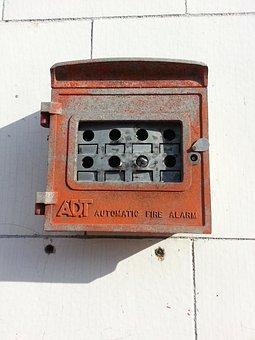 Fire Alarm, Old, Urban, Broken, Forgotten