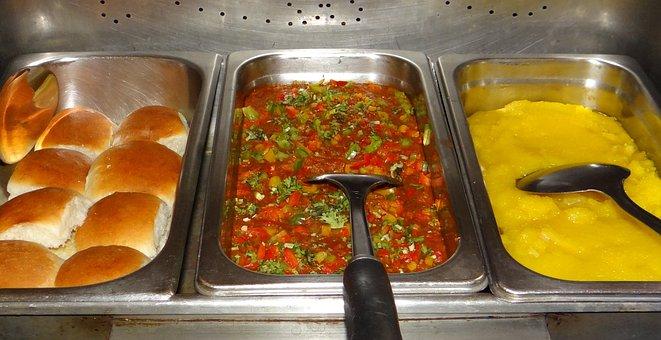 Pav-bhaji, Masala Pav, Halva, Snack, Breakfast, India