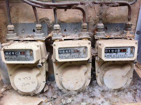Gas Meter, Old, Damaged, Flow Meter, Measure, Volume