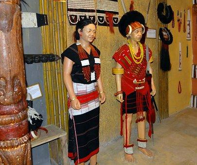 Tribe, Naga, Angami, Ethnic, Model, Anthropology