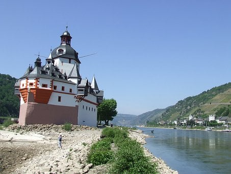 Rhine, Palatinate, Germany, Pfalzgrafenstein, Castle