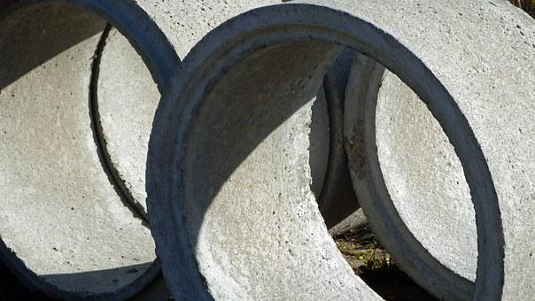 Sewer Pipe, Tube, Channel Build, Concrete, Trace