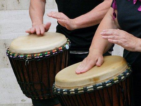 Drums, Drummer, Drum, Musician, Djembe, Instrument