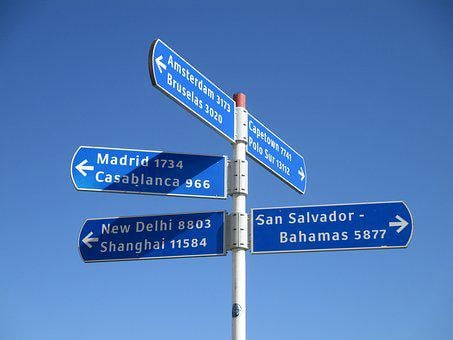 Signs, Directory, Island, Spain, Gran Canaria