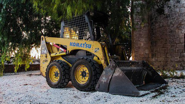 Bulldozer, Vehicle, Machine, Equipment, Construction