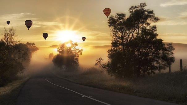 Balloon, Hot Air, Landscape, Hot Air Balloon, Sky