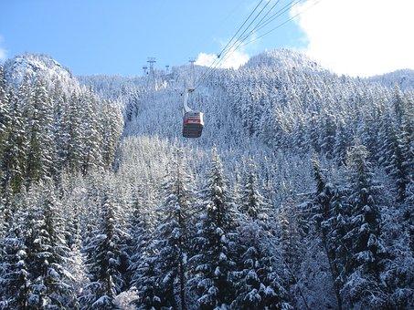 Snow, Mountain, Gondola, Winter, Nature, Sky, Landscape