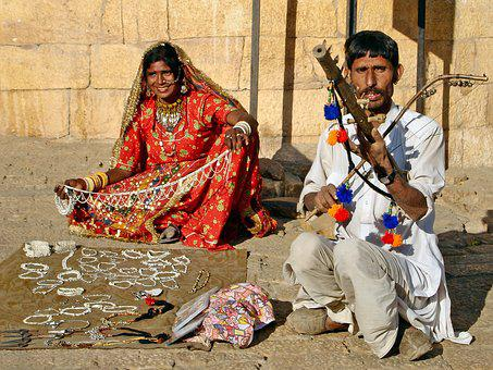 India, Busker, Street Sales, Family, Poverty, Music