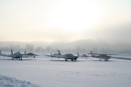 Aircraft, Sport Aircraft, Winter, Light Aircraft
