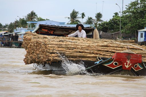 Boat, Wood, Boating, Boats, Viet Nam, Transport