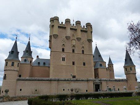 Alcazar, Fortress, Segovia, Spain, Old Town, Castile