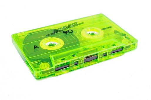 Announcer, Audio, Neon, Cassette, Communication