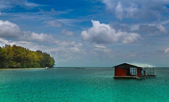 Phu Quoc, Island, Viet Nam, Ocean, Floating, House