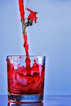 Red Wine, Glass, Skier, Alcohol, Beverage, Red