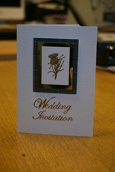 Wedding, Invitation, Scottish, Decoration, Card, Design