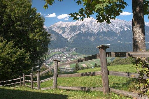 Mountains, Alps, Inn Valley, Tulfes, Austria, Meadow