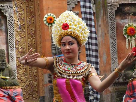 Bali, Barong Dance, Female Dancer