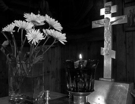 Cross, Lamukka, Flame, Flower, Bouquets, Fire, Crucifix
