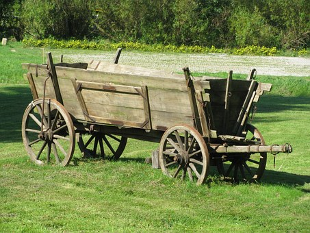 Rammenau, Heimatscheune, Wagon, Historic, Equipment