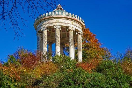 Munich, English Garden, Monopteros, Bavaria, Park