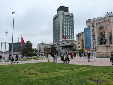 Istanbul, Turkey, Old Town, Space, Taxim, Monument