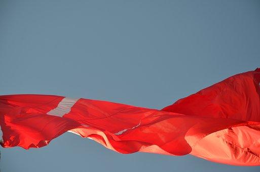 Sky, Flag, Fluctuation, Alva, Turkey