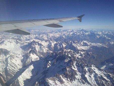 Aircraft, Mountain, Andes, Cordillera, Plane, Snow