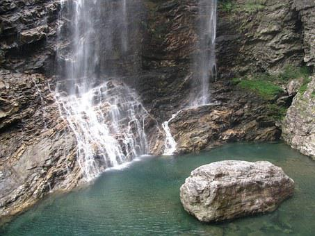 Lushan, Falls, Water, Dynamic And Static