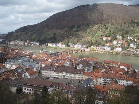 Heidelberg, Philosopher's Path, Neckar