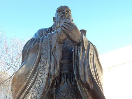Confucius, Statue, Chinese, Sculpture, Philosophy