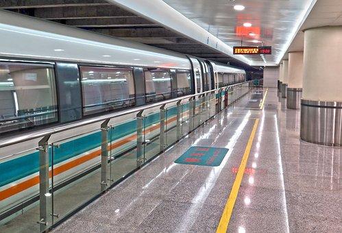 Transrapid, Station, Shanghai, Stop