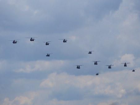 Helicopters, Royal Netherlands Air Force, Flight, Show