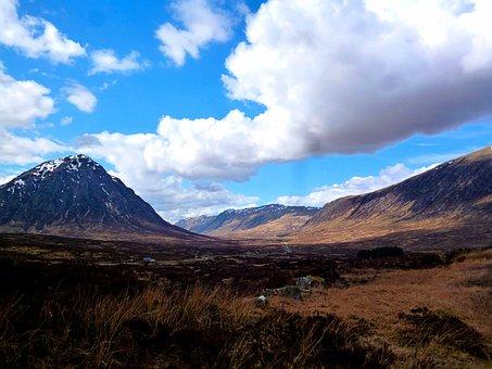Landscape, Scotland, West Highland Way, Hill, Mountain
