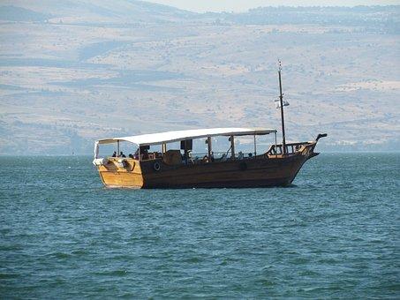 Galilee, Boat, Israel, Tiberius, Water, Sea, Lake