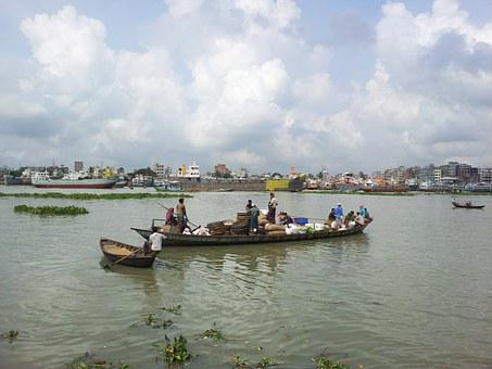 Bangladesh, Dhaka, Buriganga River, Boat, People, Asia