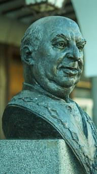 Segovia, Statue, Candido, Azoquejo, Portrait