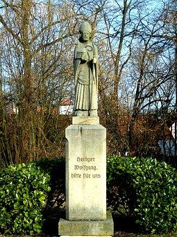 Statue, Stone, Holy Wolfgang, Patron Saint