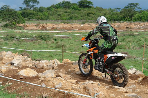 Motocross, Traverse Field, Competition, Motorcyclist