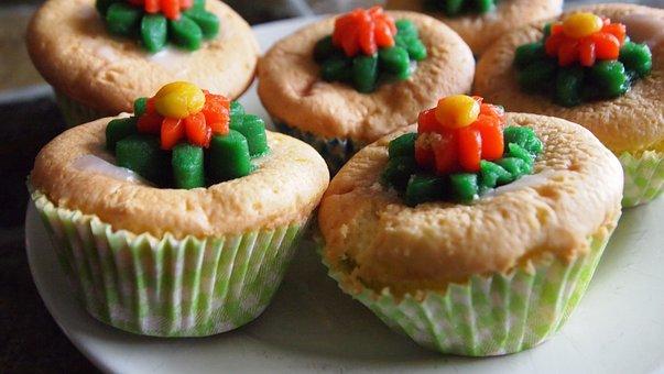 Cake, Baking, Caketjes, Flowers, Marzipan, Eat Sweets