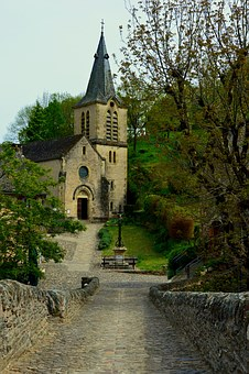Church, Bridge, Belcastel, Aveyron, Monument, Pierre