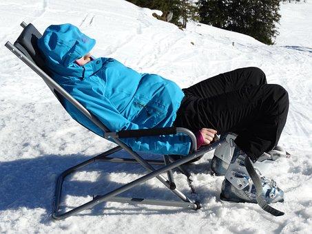 Relax, Après-ski, Rest, Ski Jacket, Deck Chair