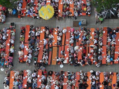 Festival, Cozy, Bierbaenke, Celebration, Beer Drinking
