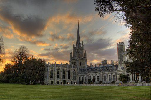 Cathedral, Sunset, Angry Clouds