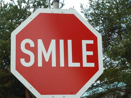Smile, Shield, Stop Sign, Road Sign, Fib, Invention