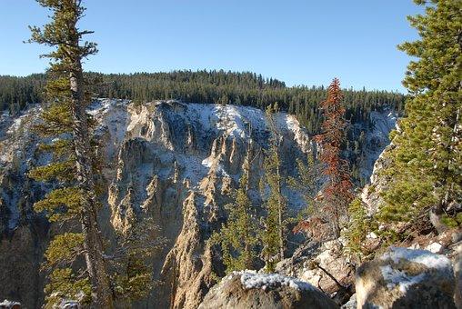 Snow, Scenery, Canyon, Landscape, Grand Canyon