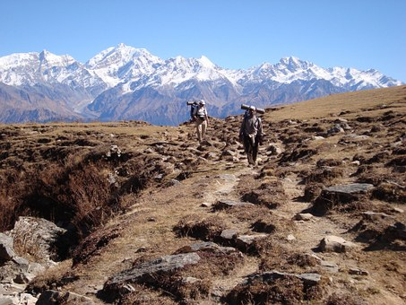 Trekkers, Himalayas, Mountains, Trekking, Sherpas