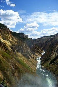 Canyon, Valley, River, Mountain, Cliff