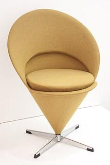 Chair, Ice Cream Cone, Verner Panton, Copenhagen, 1958